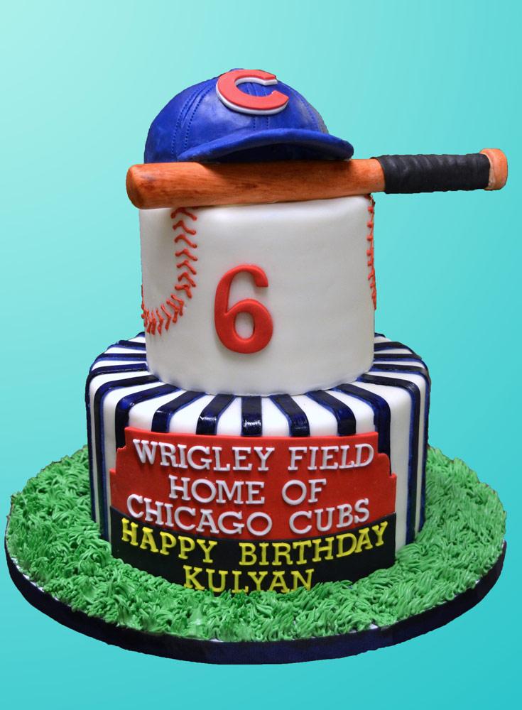 Huascar & Company Bakeshop Chicago Cubs Cake
