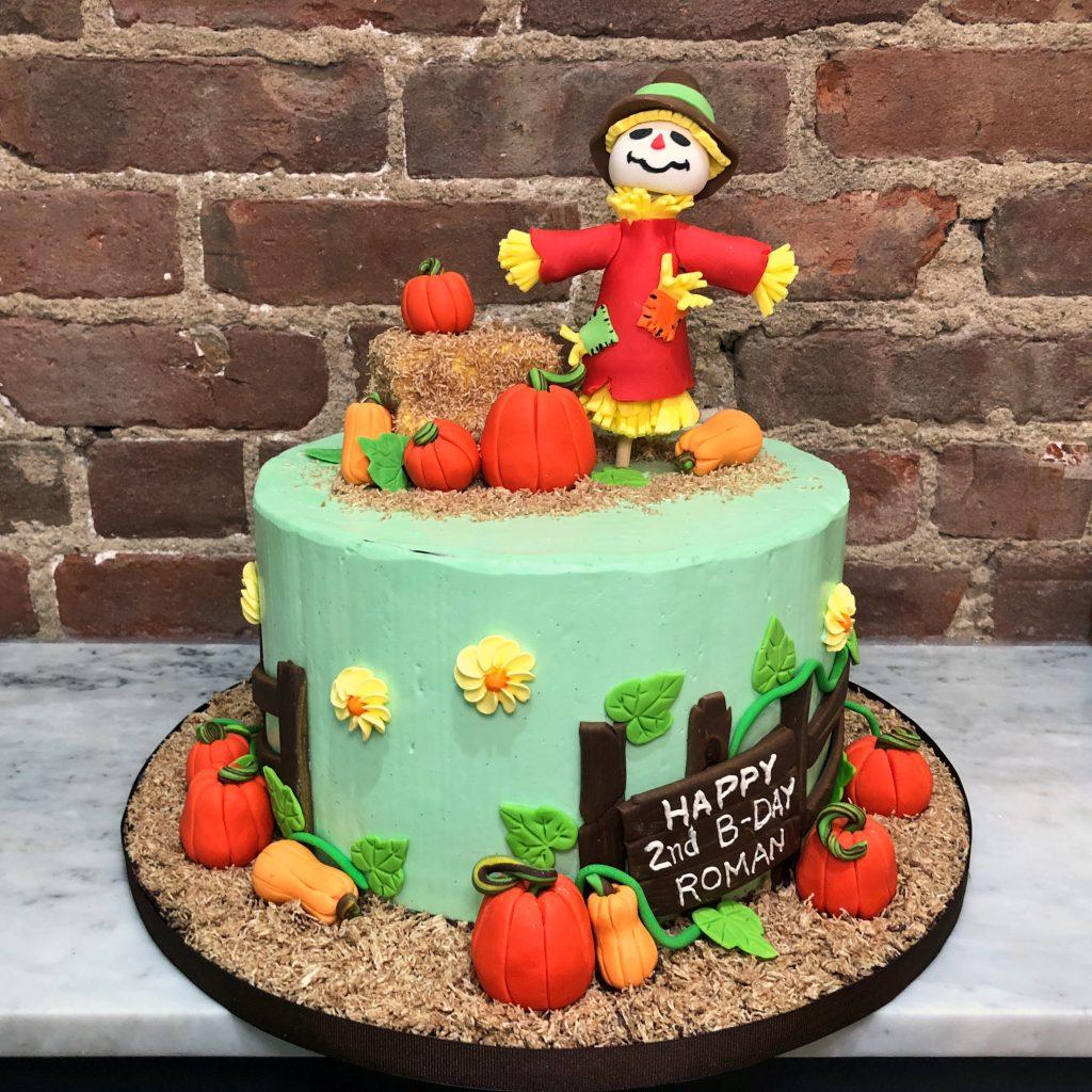 Huascar & Company Bakeshop Autumn Scarecrow Cake