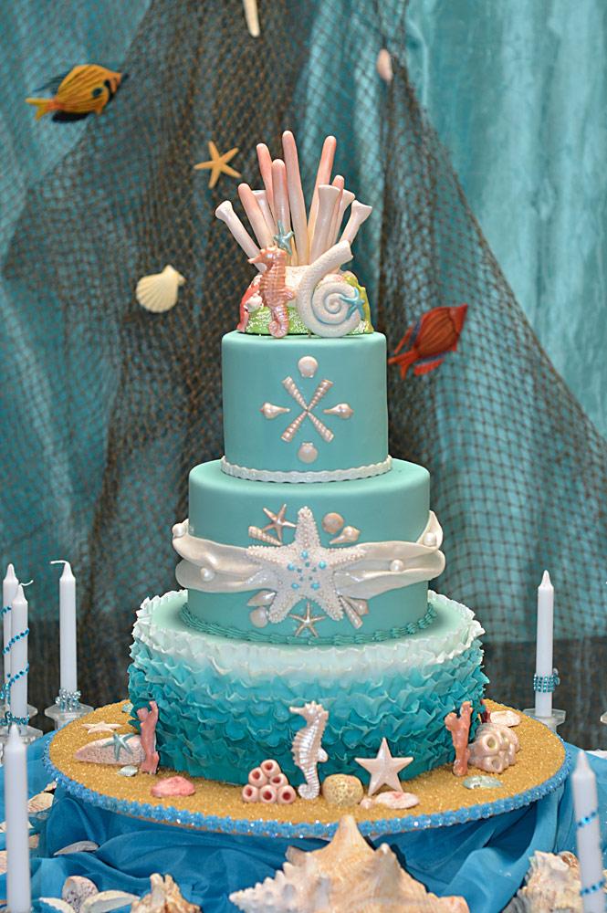 Huascar & Company Bakeshop Sea Theme Sweet 16 Cake