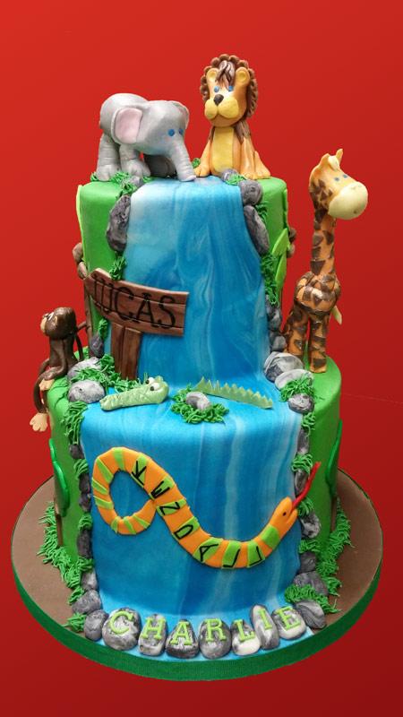 Huascar & Company Bakeshop Jungle Theme Cake
