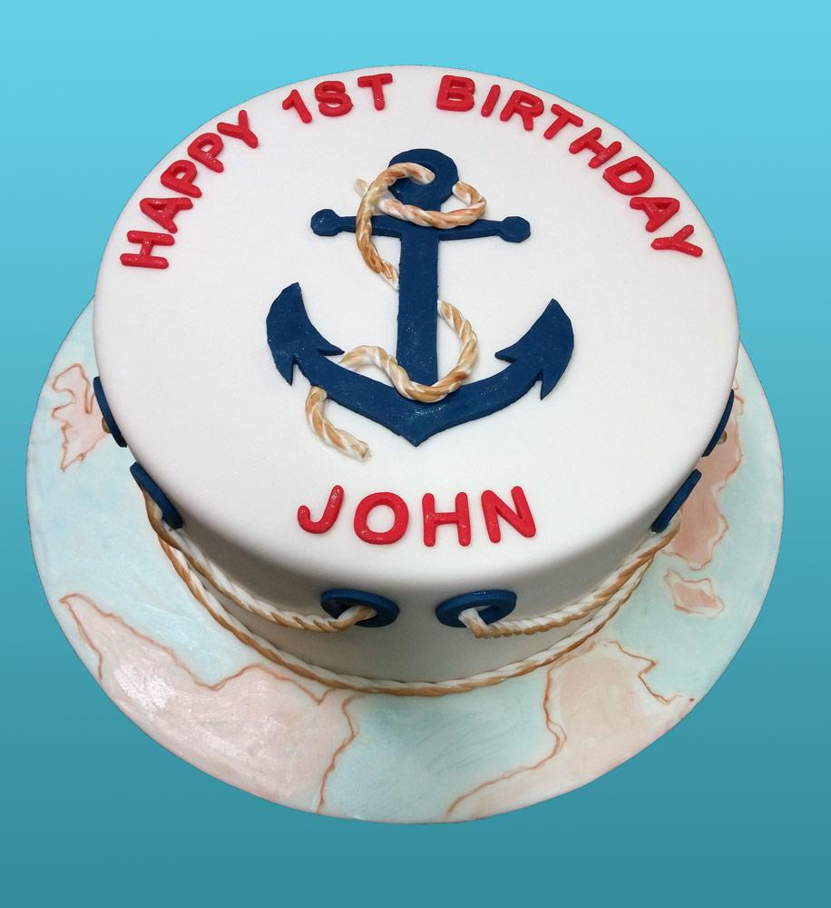 Huascar & Company Bakeshop Nautical Cake