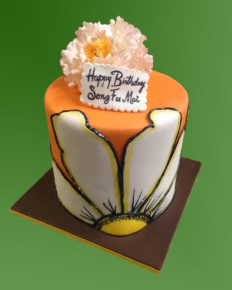 Huascar & Company Bakeshop Fondant Flower Cake