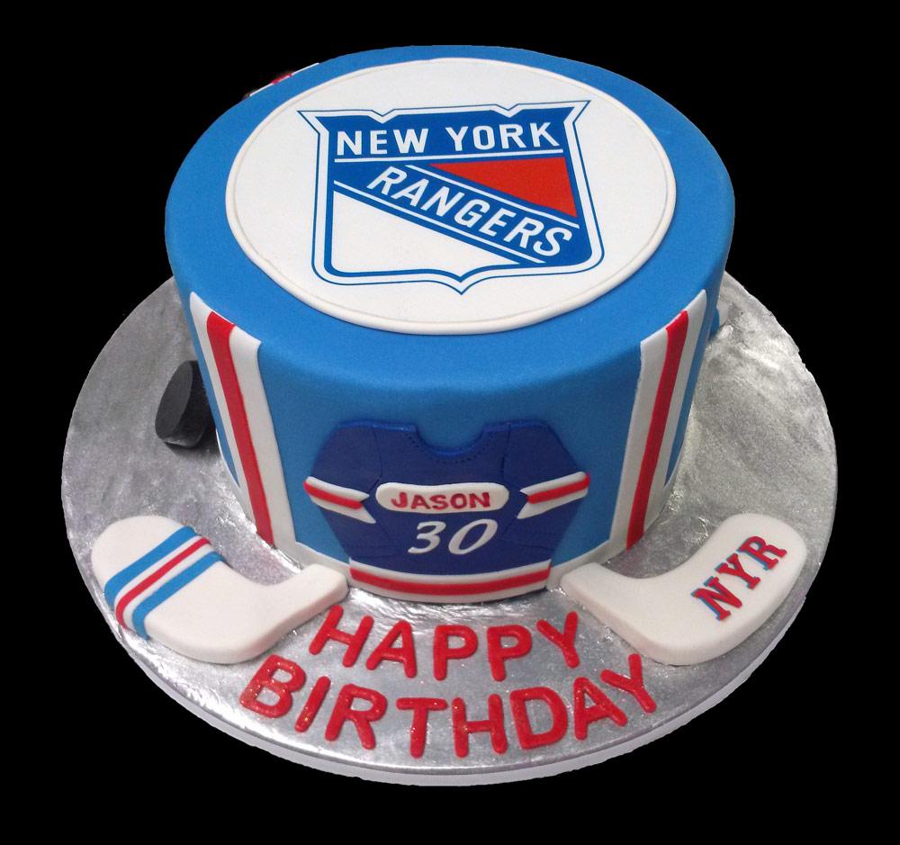 Huascar & Company Bakeshop NY Rangers Hockey Cake
