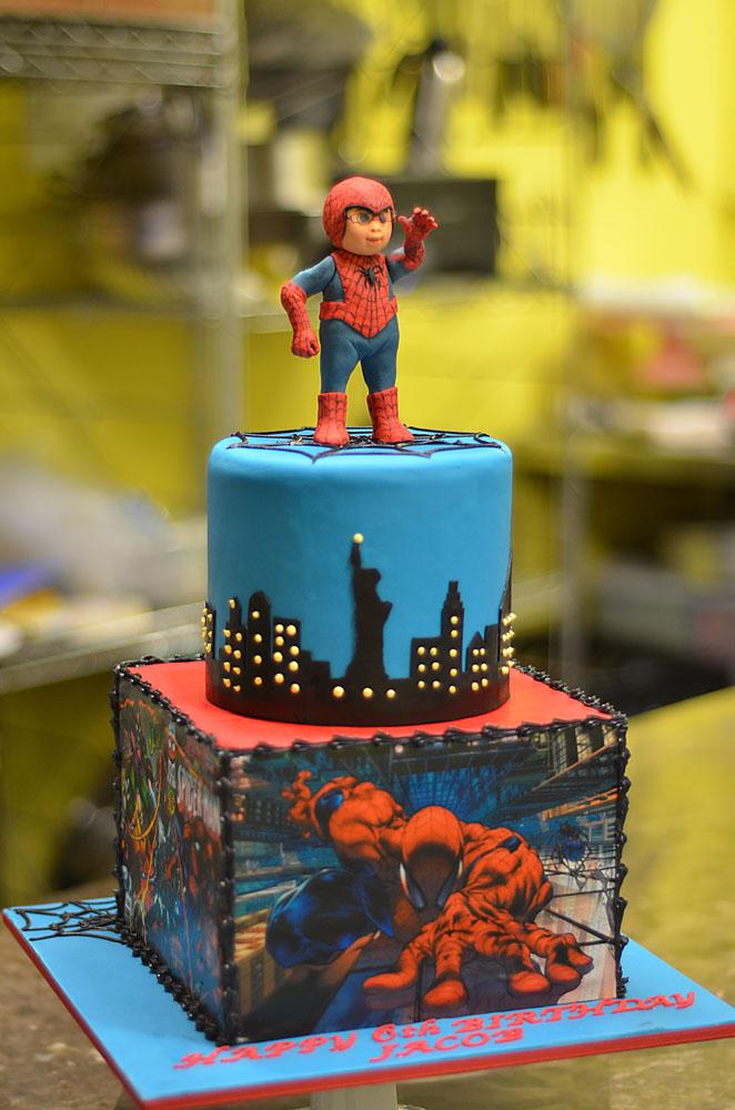 Huascar & Company Bakeshop Sugarpaste Spider-Man Figurine Cake