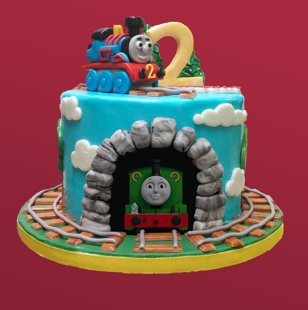Huascar & Company Bakeshop Sugarpaste Thomas Cake