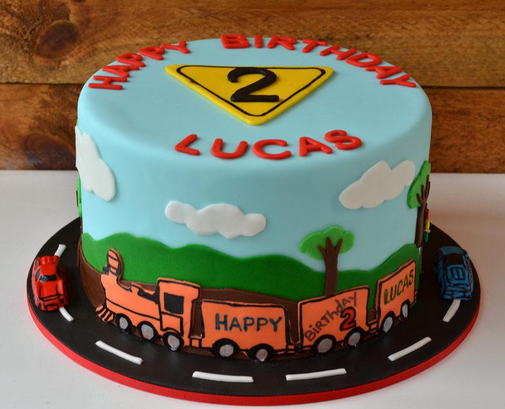 Huascar & Company Bakeshop Fondant Train Cake