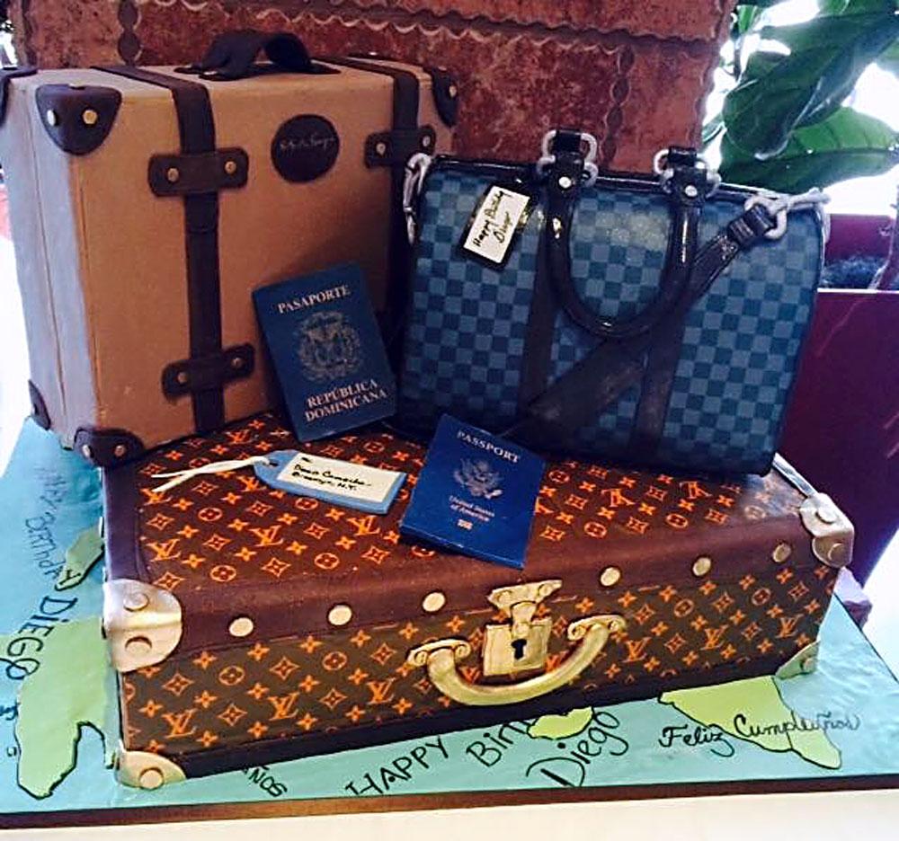 Huascar & Company Bakeshop Traveler Luggage Cake