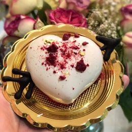 Huascar and Company Bakeshop White Chocolate-Yuzu Gelee Mousse Heart